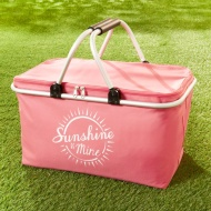 Foldable Picnic Basket - Pink