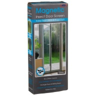 Magnetic Insect Door Screen - Grey