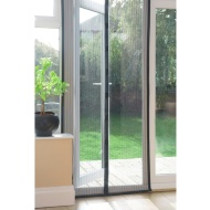 Magnetic Insect Door Screen - Black