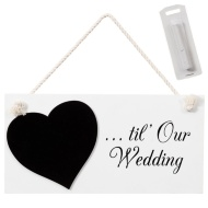 Chalkboard Wedding Plaque