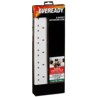Eveready 6 Socket Extension Lead 3m