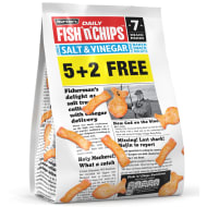 Burton's Fish 'n' Chips 7pk - Salt & Vinegar