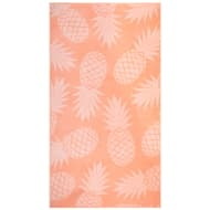 Oversized Jacquard Beach Towel 100 x 180cm - Coral Pineapple