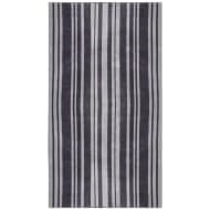 Oversized Jacquard Beach Towel 100 x 180cm - Grey Stripe