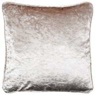 Versailles Crushed Velvet Cushion - Oyster