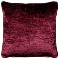 Versailles Crushed Velvet Cushion - Plum