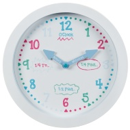 Learn to Tell the Time Clock - White