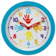 Learn to Tell the Time Clock - Blue
