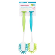 Suction Dish Brushes 2pk - Turquoise & Green