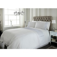 Sara Metallic Pleat Panel King Size Duvet Set