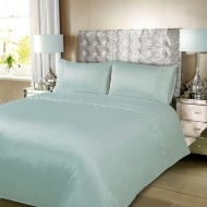 Karina Bailey Charlotte Satin Lace Gem King Size Duvet Set