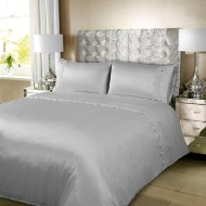 Karina Bailey Charlotte Satin Lace Gem Double Duvet Set