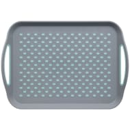 Anti-Slip Serving Tray - Grey