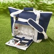 Picnic Bag with Dinnerware 27pc - Navy