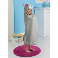 Kids Hooded Bath Towel - Cat