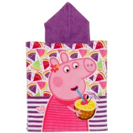 Kids Peppa Pig Poncho Towel