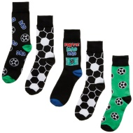 Father's Day Socks 5pk - Footy Mad Dad