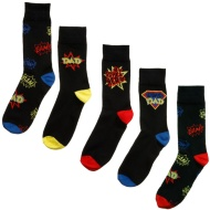 Father's Day Socks 5pk - Super Dad