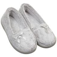 Ladies Memory Foam Slippers - Grey