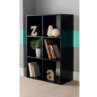 6 Cube Shelving Unit - Black
