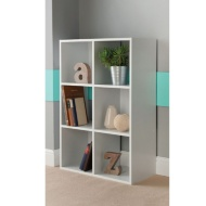 6 Cube Shelving Unit - White