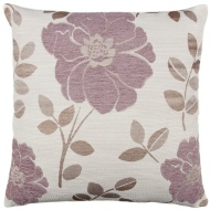 Natalia Chenille Flower Cushion - Heather