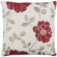 Natalia Chenille Flower Cushion - Mulberry