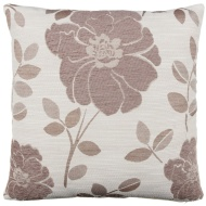 Natalia Chenille Flower Cushion - Natural