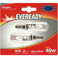 Eveready 40W Cooker Hood Lamp 2pk