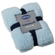 Silentnight Kids Collection Supersoft Throw - Baby Blue