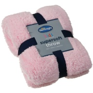 Silentnight Kids Collection Supersoft Throw - Baby Pink