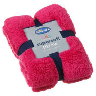 Silentnight Kids Collection Supersoft Throw - Raspberry
