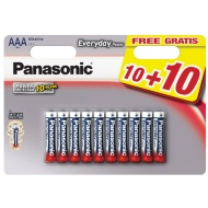 Panasonic AAA Batteries 10 Pack + 10 Free