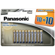 Panasonic AAA Batteries 10 + 10 Free