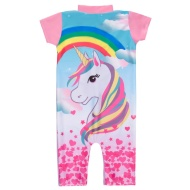 Girls Unicorn Sunsuit - Pink