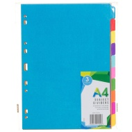 A4 Subject Dividers - 10 Part 3pk