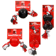 Dogfather Rubber & Rope Dog Toy - Large