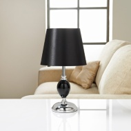 Sofia Glass Ball Table Lamp - Black