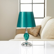 Sofia Glass Ball Table Lamp - Teal