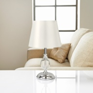 Sofia Glass Ball Table Lamp - White