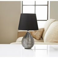 Etch Ceramic Table Lamp - Gunmetal