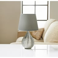 Etch Ceramic Table Lamp - Silver