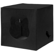 Felt Cat Cube Den - Black
