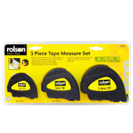 Rolson Tape Measure Set 3pc