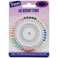 Berry Pins on Wheel 40pk