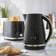 Goodmans Diamond Kettle & Toaster Set - Black