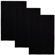 Oversized Chevron Terry Tea Towels 3pk - Black