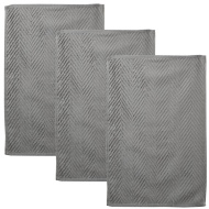 Oversized Chevron Terry Tea Towels 3pk - Grey