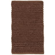 Super Soft Knitted Chenille Bath Mat - Brown
