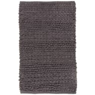 Super Soft Knitted Chenille Bath Mat - Charcoal